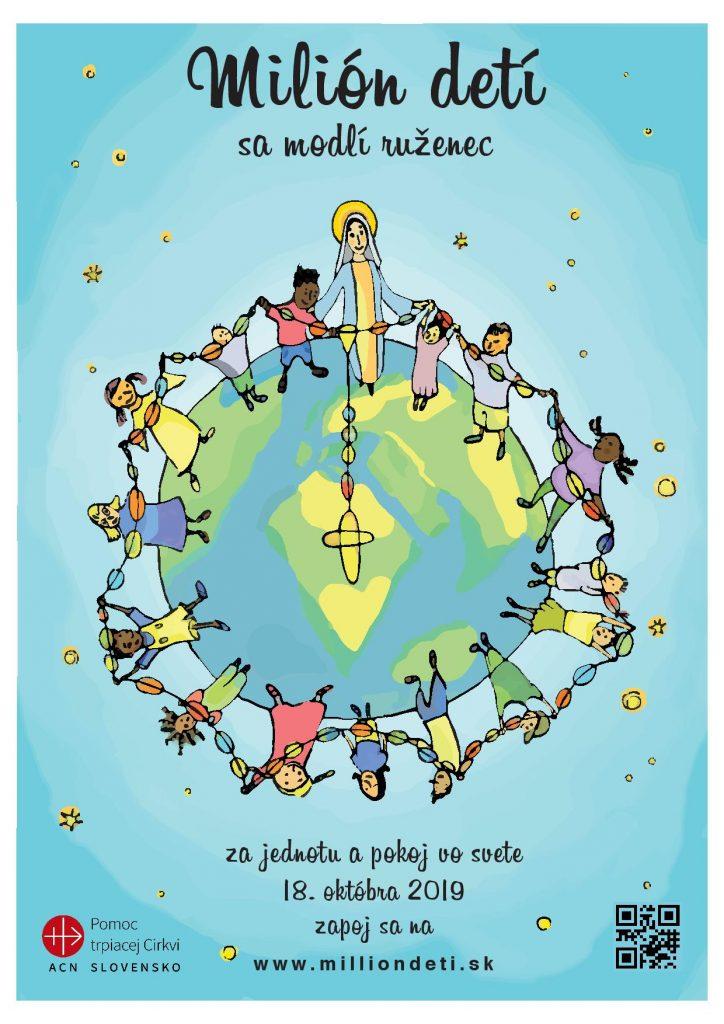 Milión detí - modlitba svätého ruženca 18. októbra 2019