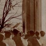 Vyťahovanie zvona na zvonicu