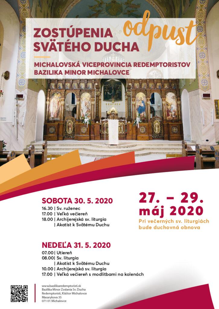 plagát odpustová slávnosť Michalovce 2020
