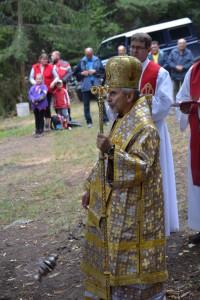 Archijerejská liturgia pri baníckom kríži-2013