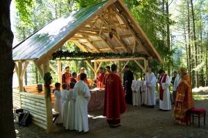 Archijerejská liturgia pri baníckom kríži